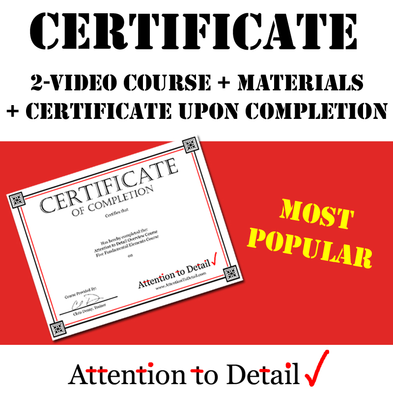 Online Courses for Attention to Detail Training - Attention